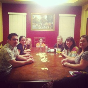 Family bananagrams game