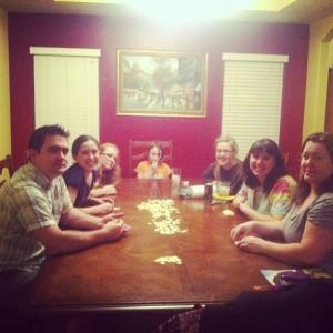 Family bananagrams game