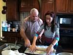 Grandpa helps Audrey make pie