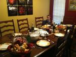 Thanksgiving table almost ready